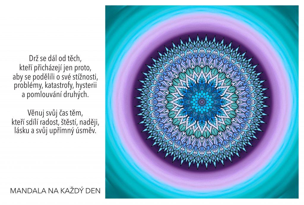 Mandala Sdílej s lidmi radost, štěstí, naději a radost
