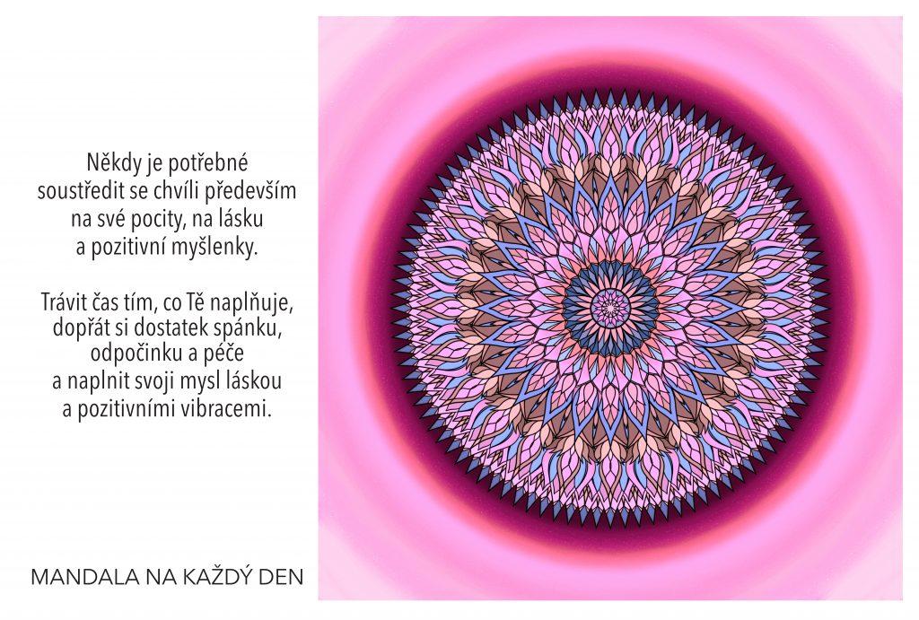 Mandala Naplň svoji mysl pozitivními vibracemi
