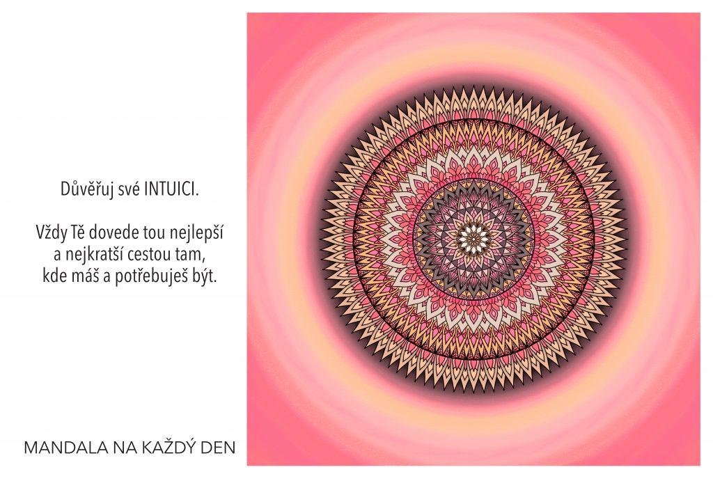 mandala Neboj se důvěřovat své intuici
