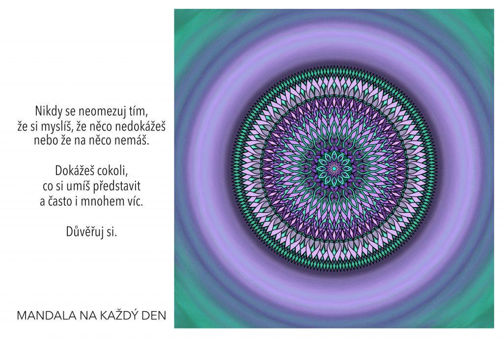 Mandala Důvěřuj si a dokážeš cokoli