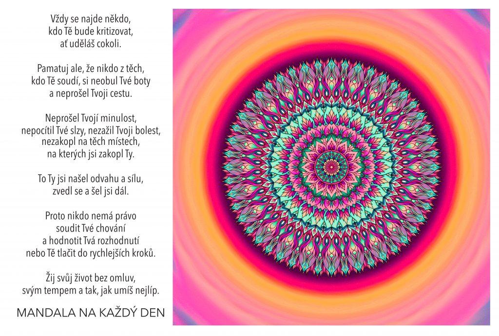 Mandala Žij svůj život podle sebe