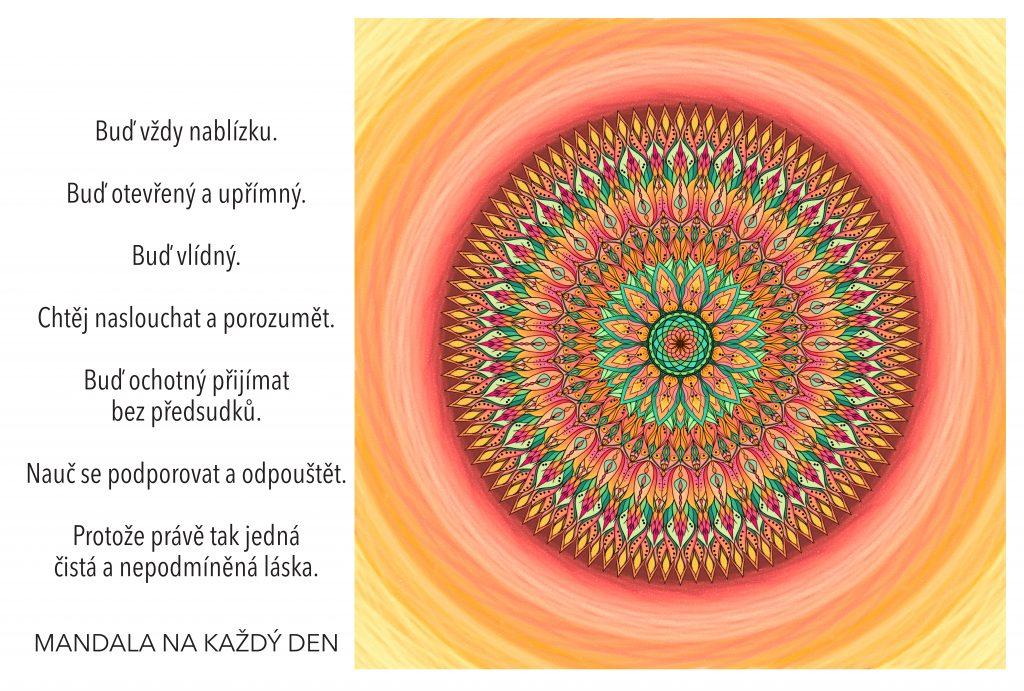 Mandala Žij naplněný čistou a nepodmíněnou láskou