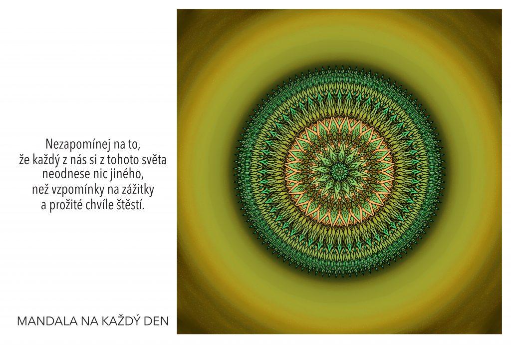 Mandala Nauč se prožívat své štěstí