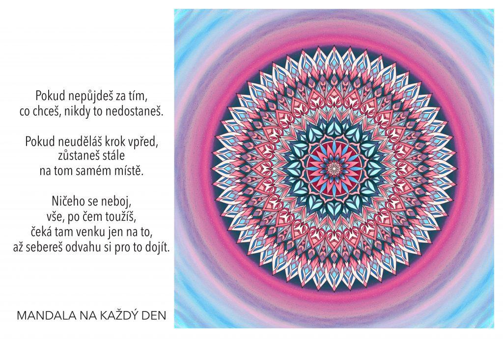 Mandala Neboj se udělat krok vpřed