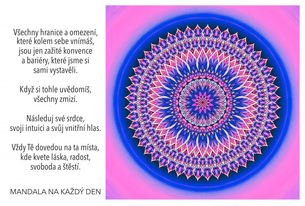 Mandala Následuj své srdce a intuici