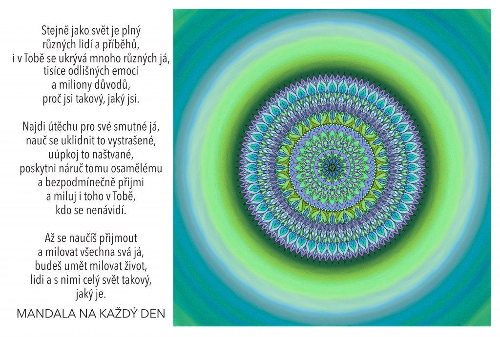 Mandala Přijmi a bezpodmínečně miluj každé své já