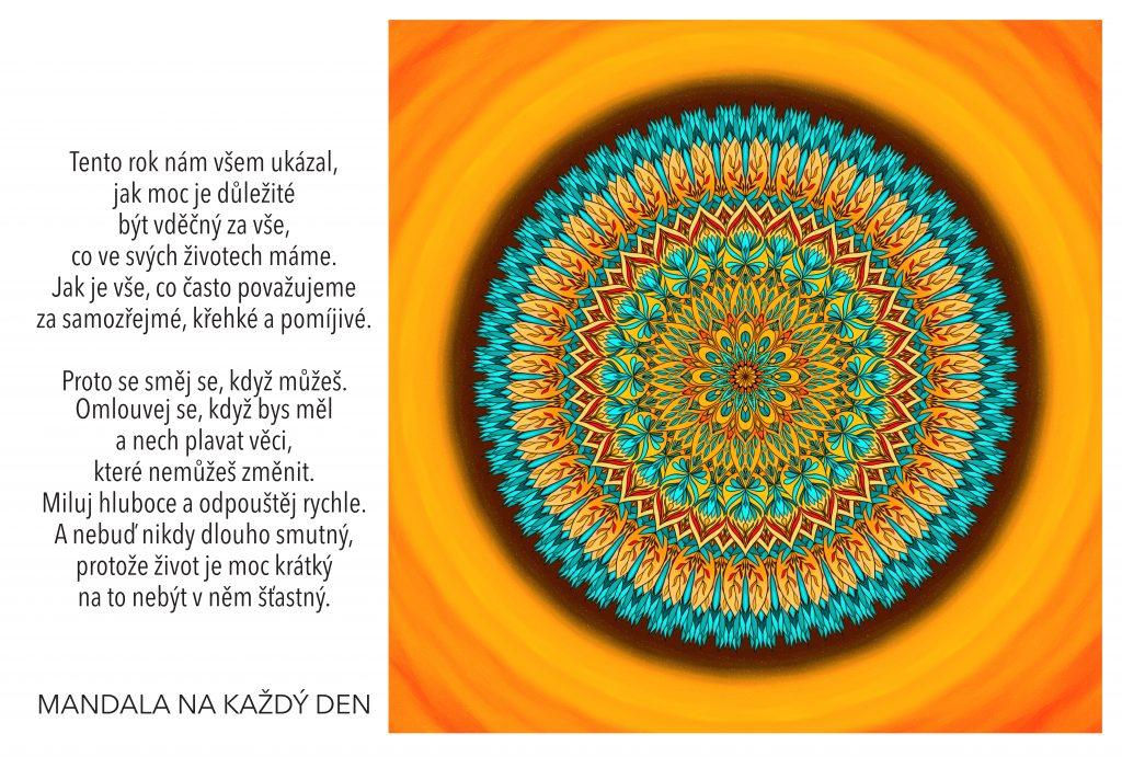 Mandala Žij svobodně, s radostí a lehkostí v srdci