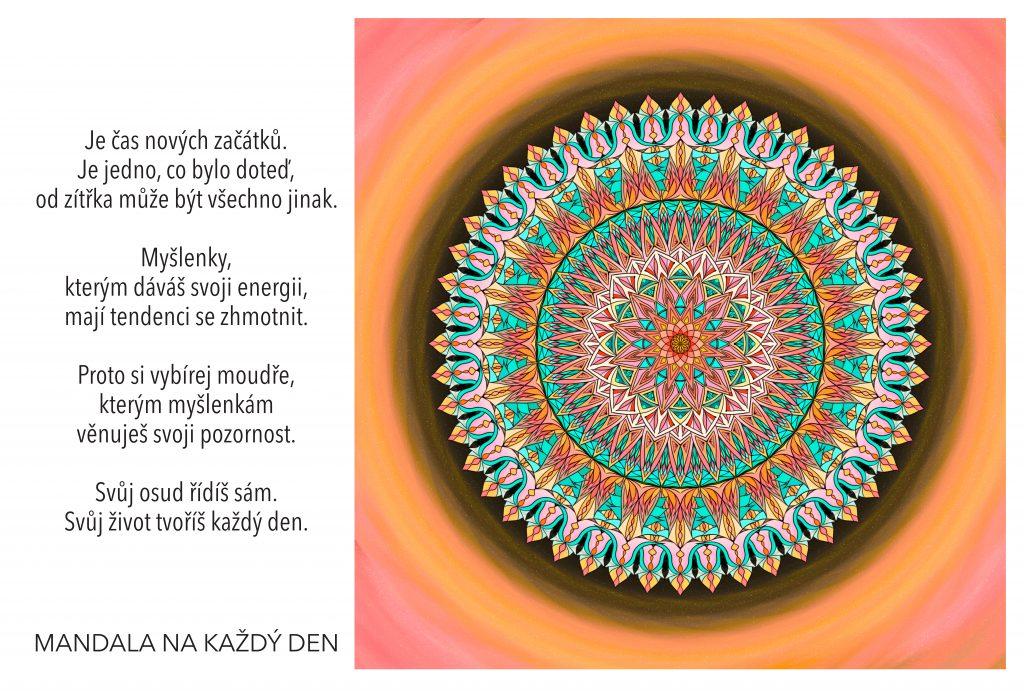 Mandala Svůj život tvoříš každý den
