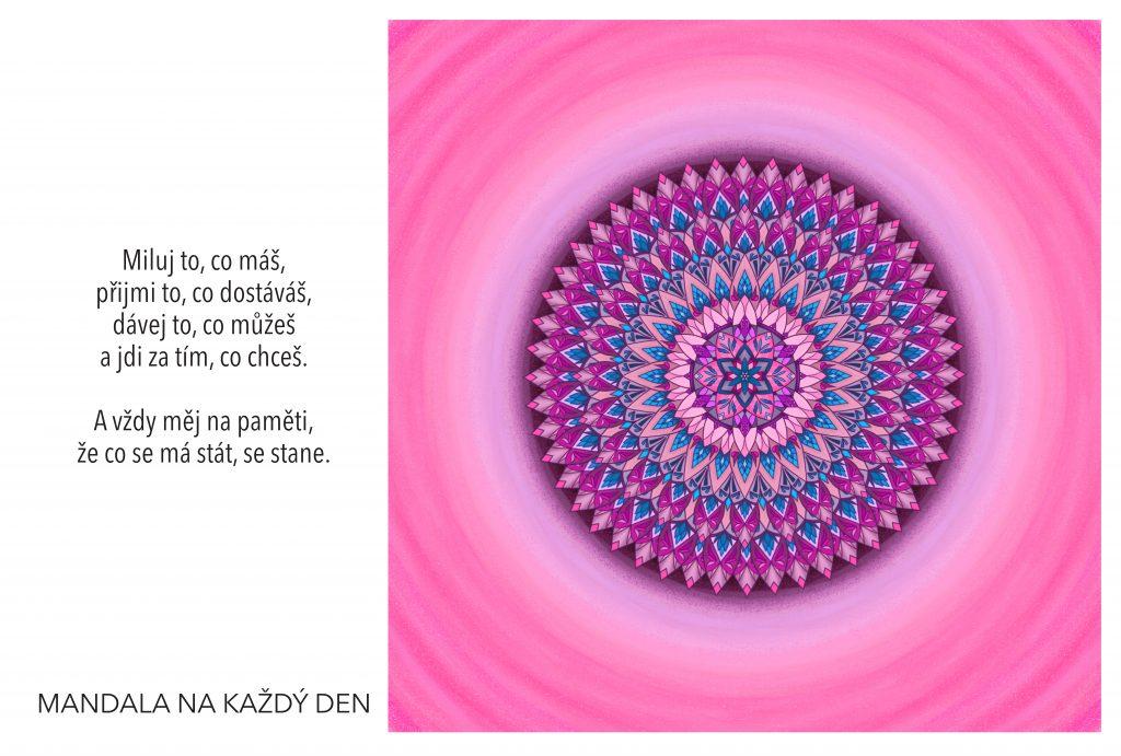 Mandala Miluj, dávej a přijímej