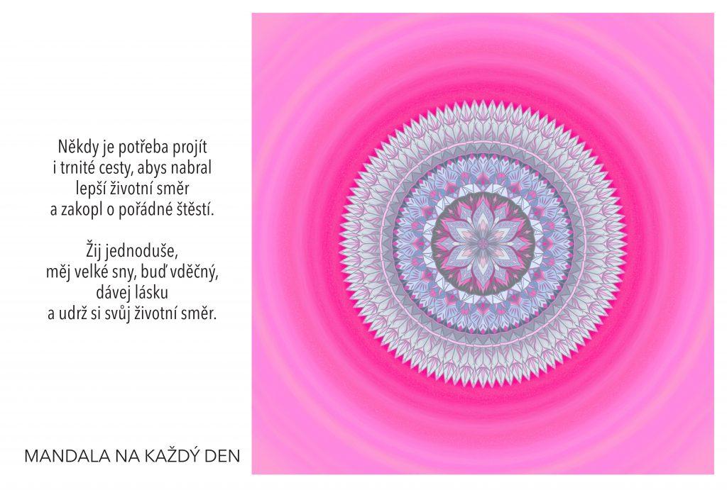 Mandala Nevzdávej cestu za svými sny