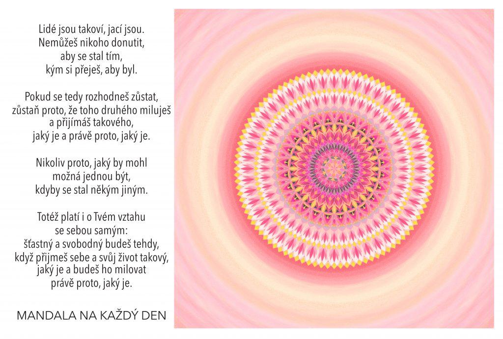 Mandala Skutečná síla (sebe)přijetí