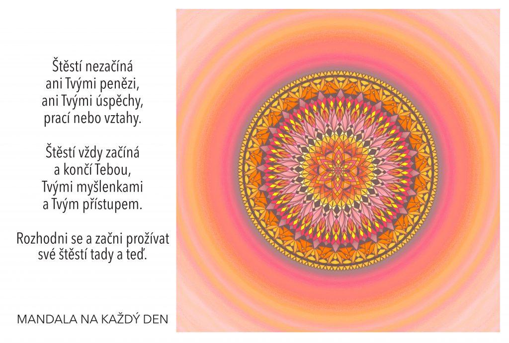 Mandala Najdi začátek svého štěstí