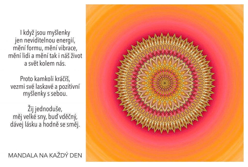 Mandala Důvěřuj síle svých myšlenek