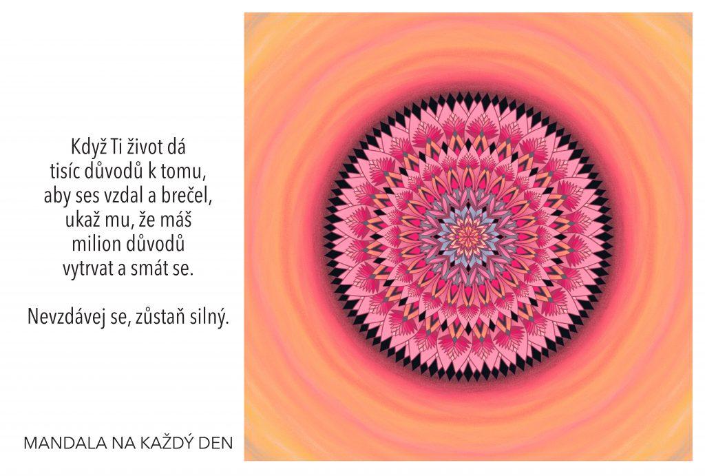 Mandala Neztrácej naději, zůstaň silný