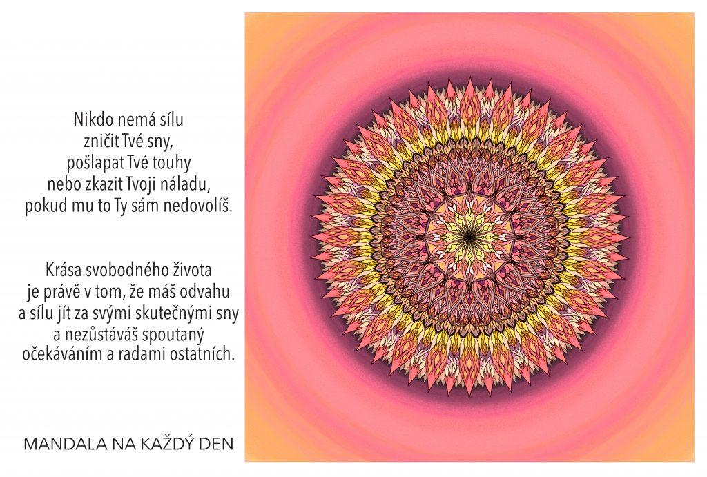 Mandala Žij svůj svobodný život