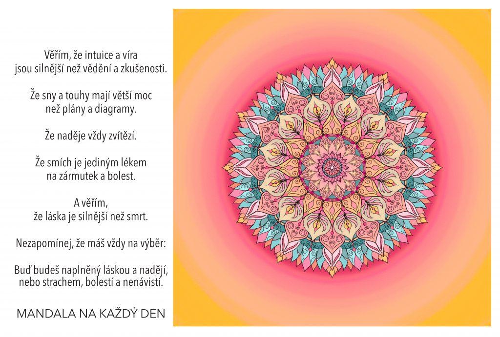 Mandala Intuice, víra, sny, naděje, smích a láska