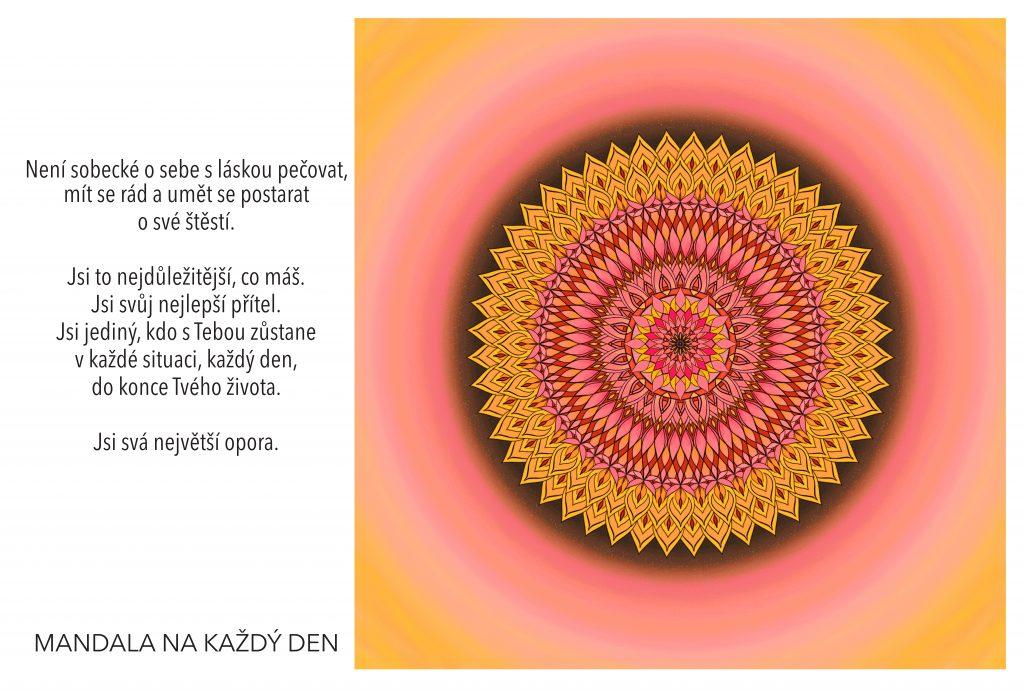 Mandala Nauč se postarat se o své štěstí