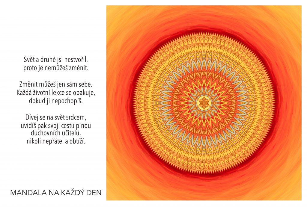 Mandala Nauč se dívat srdcem
