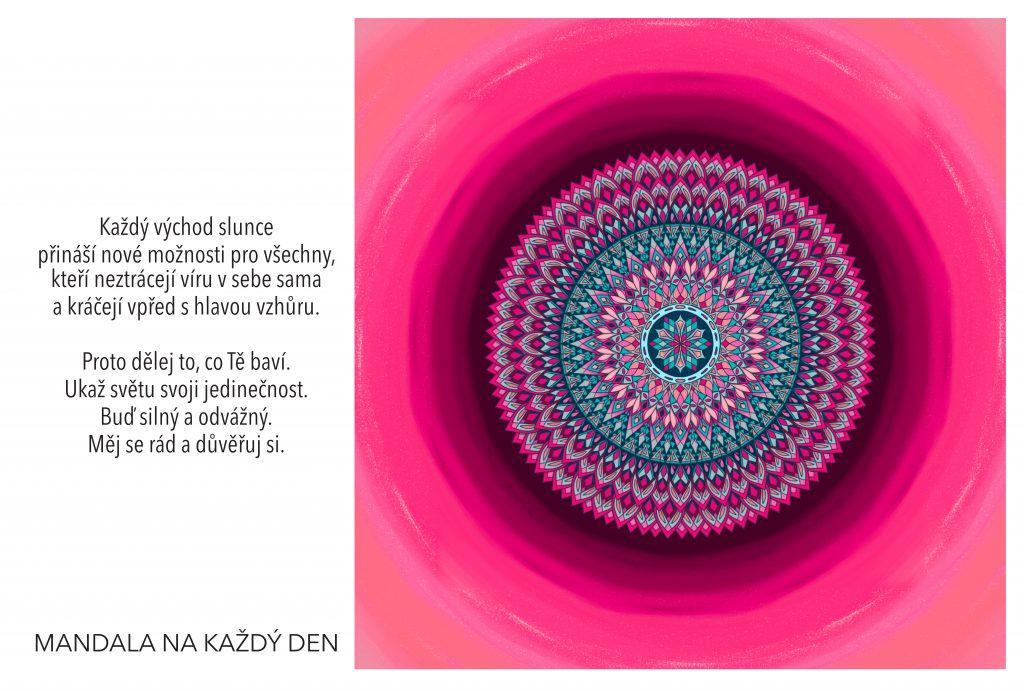 Mandala Buď silný, odvážný a důvěřuj si