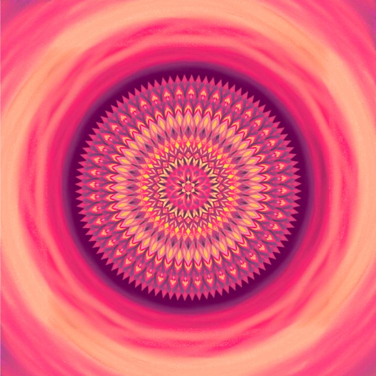 Mandala Buď chápající, upřímný a laskavý - k sobě i druhým
